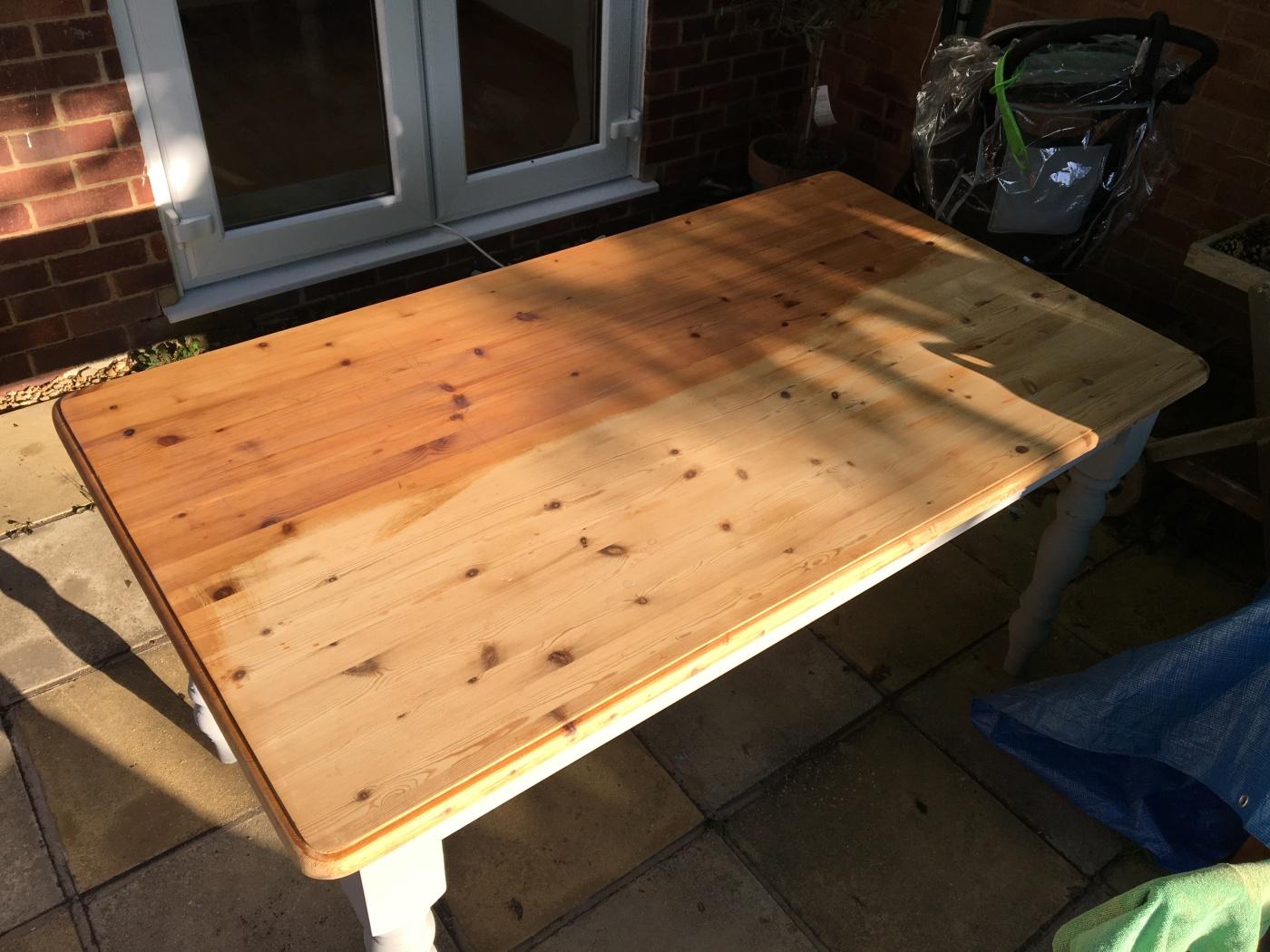 farmhouse table varnish
