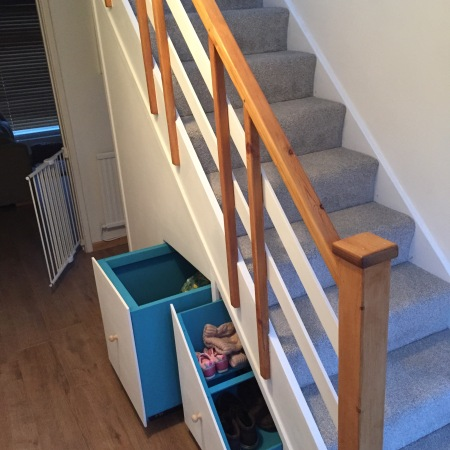 Complete under stair drawers