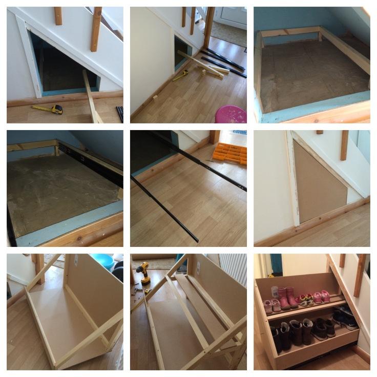 under stair drawers step by step