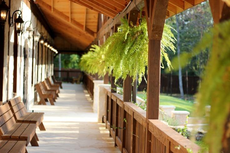chunky wood veranda