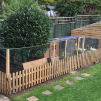 How to build a chicken run extension