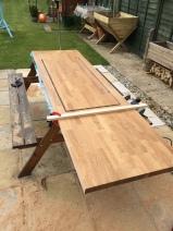 solid oak worktop