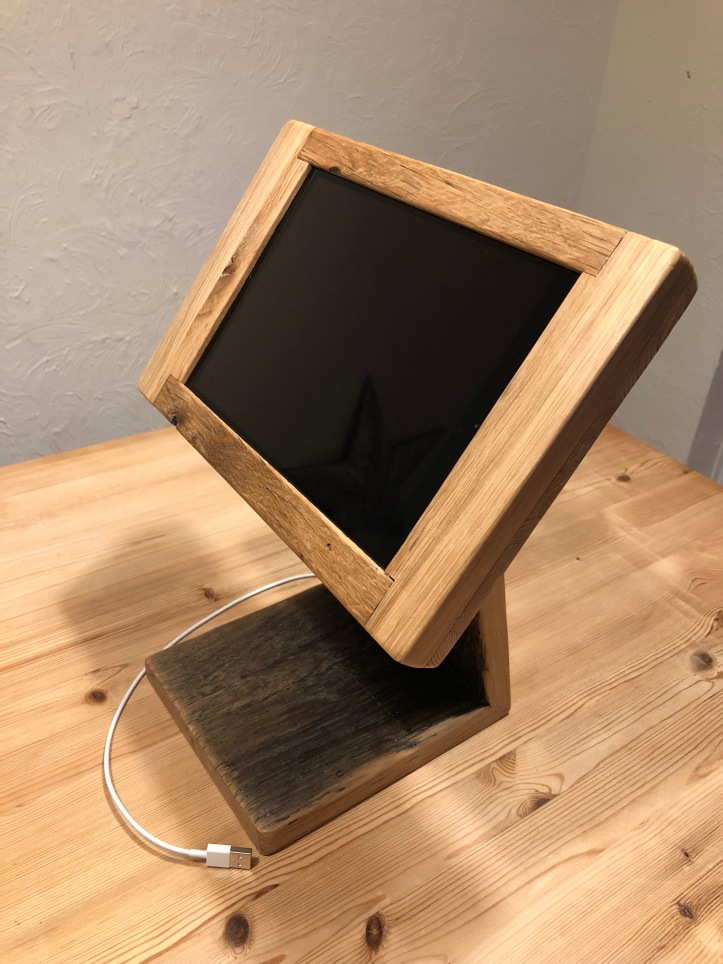 custom made iPad stand for reception area