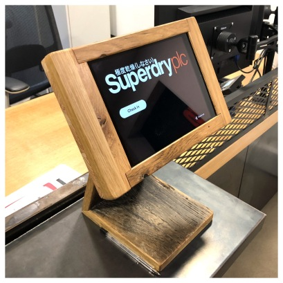 Tablet stand, solid oak