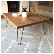 Chunky Wood Coffee Table Hairpin legs