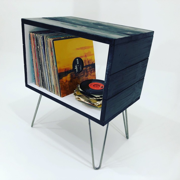 Record player stand hairpin legs
