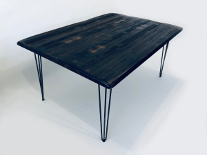 Industrial dining table hairpin legs