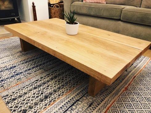 Rustic solid oak coffee table