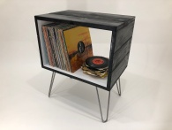 retro record player stand