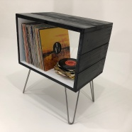 retro record player stand
