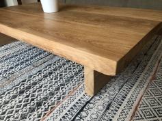 chunky oak coffee table