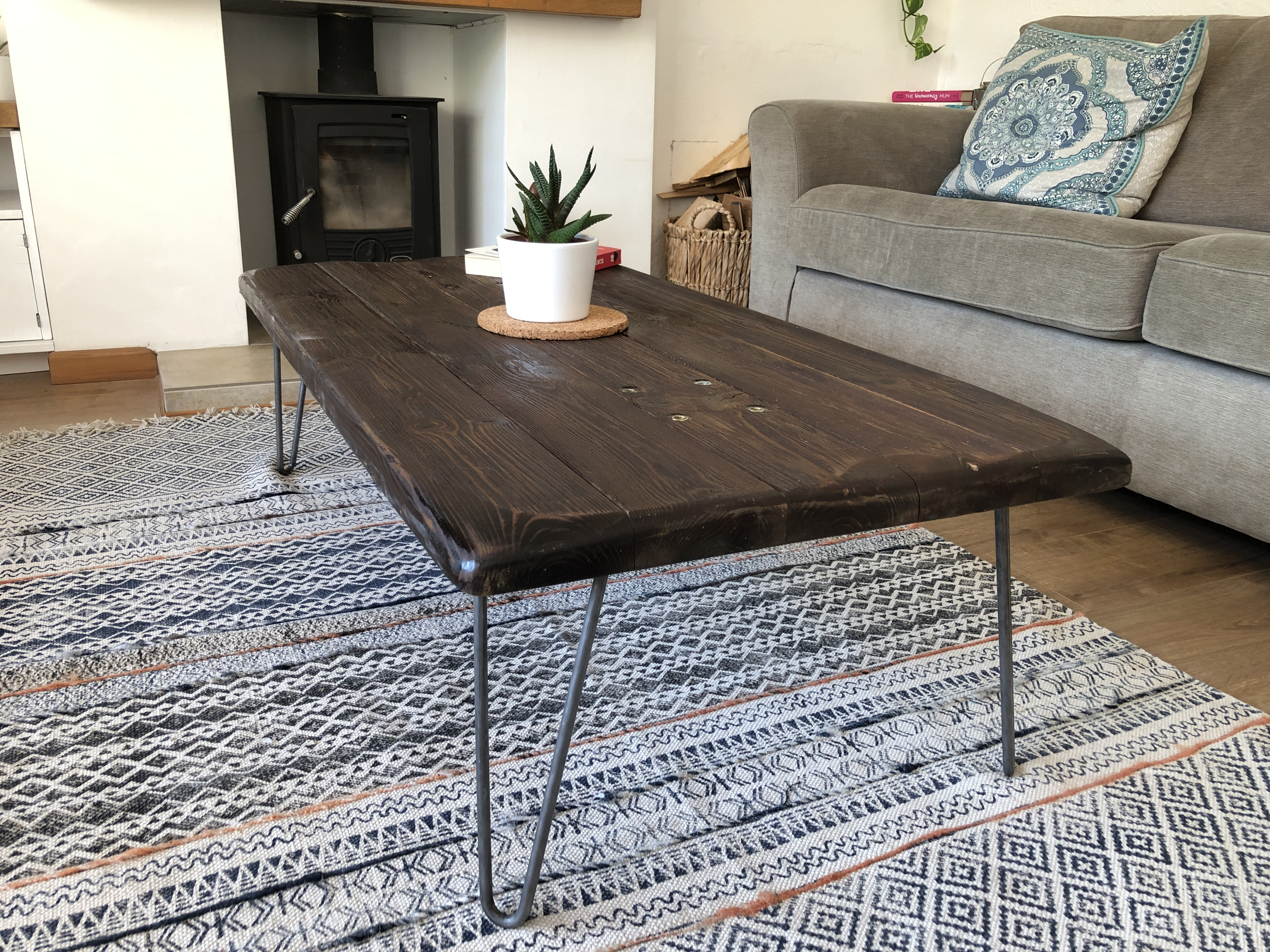 industrial coffee table hairpin legs