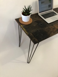 rustic industrial writing desk