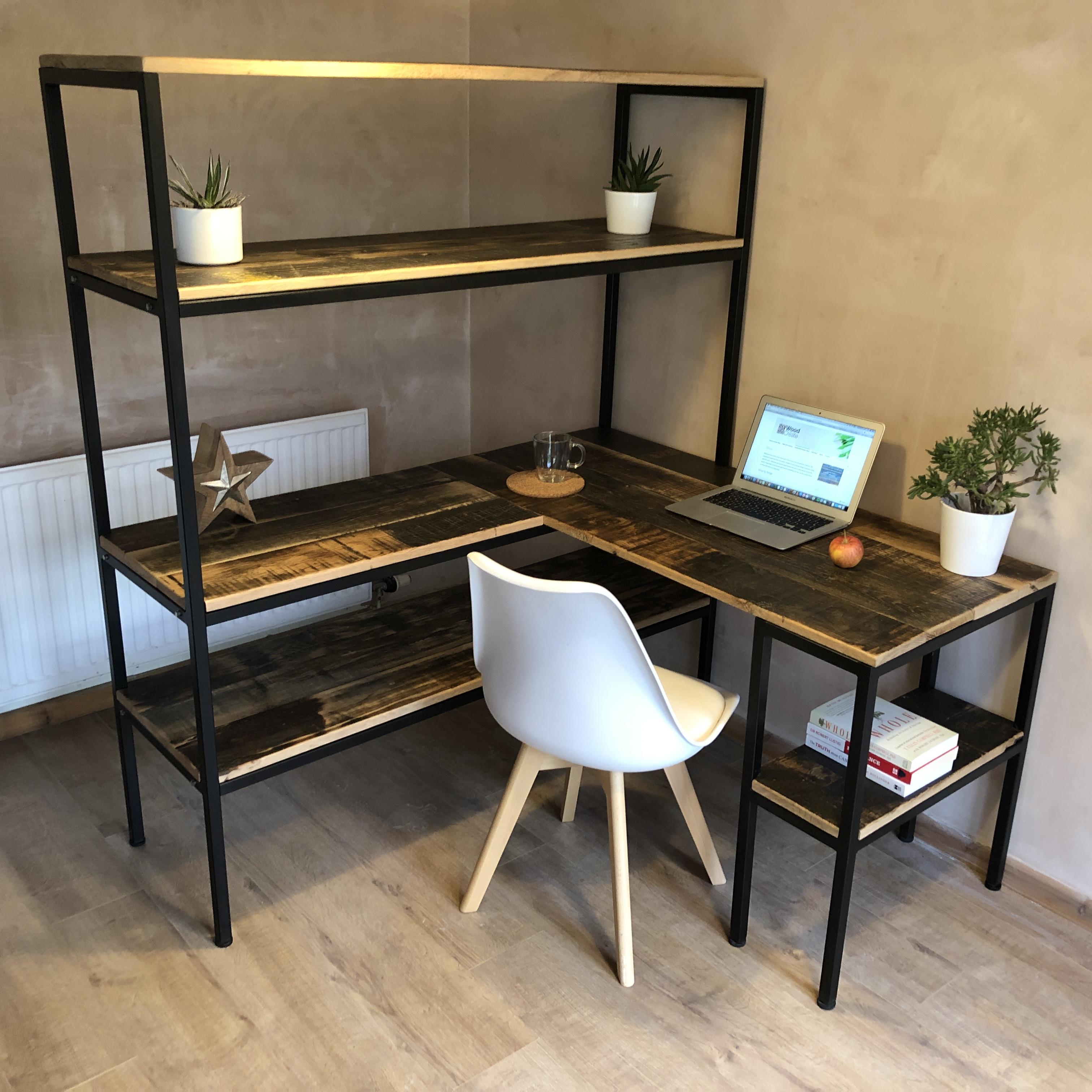 industrial shelving desk