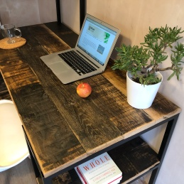 industrial shelving desk