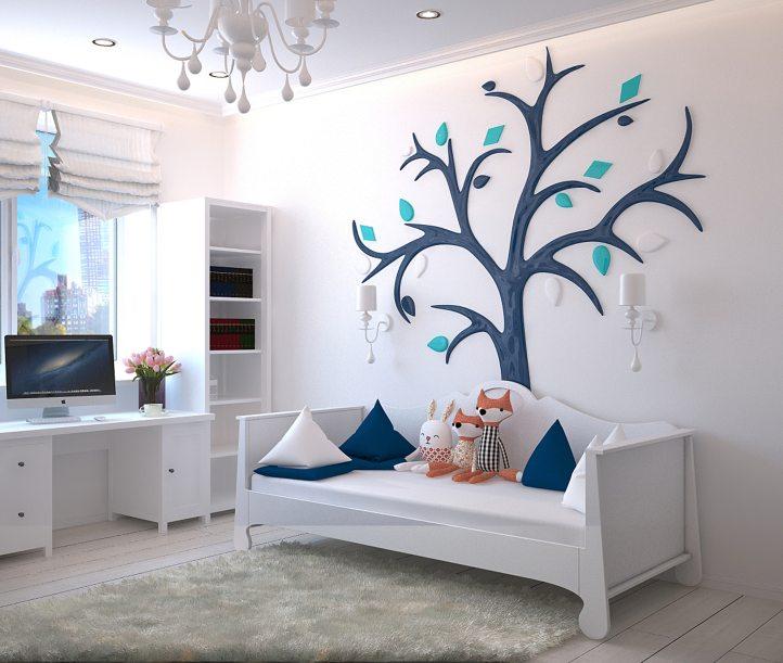 kids bedroom white