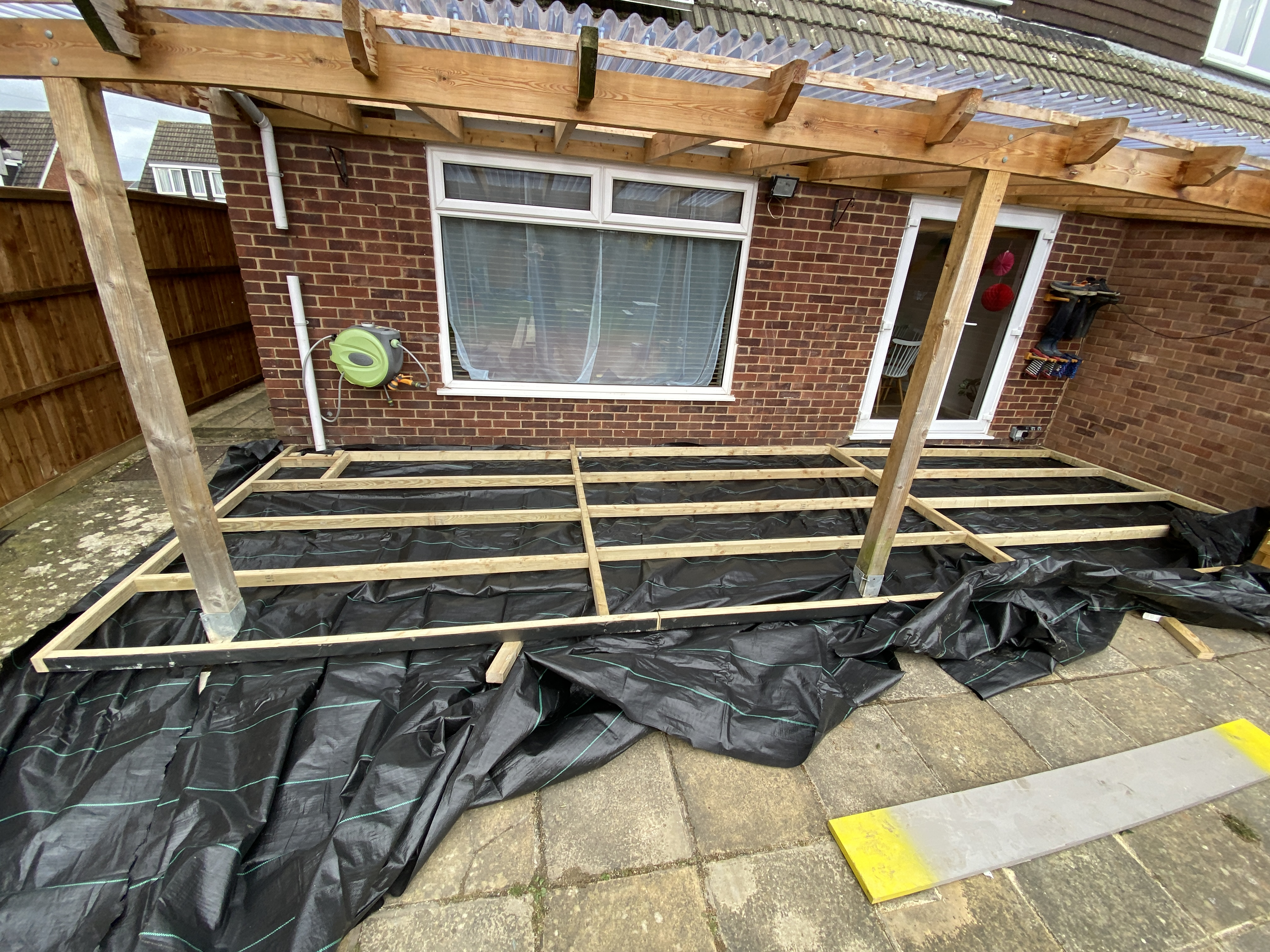 how to build your own decking - frame