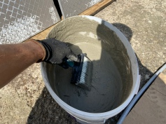 how to lay a porcelain patio