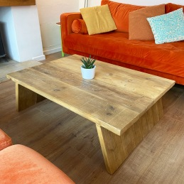 Splayed leg coffee table