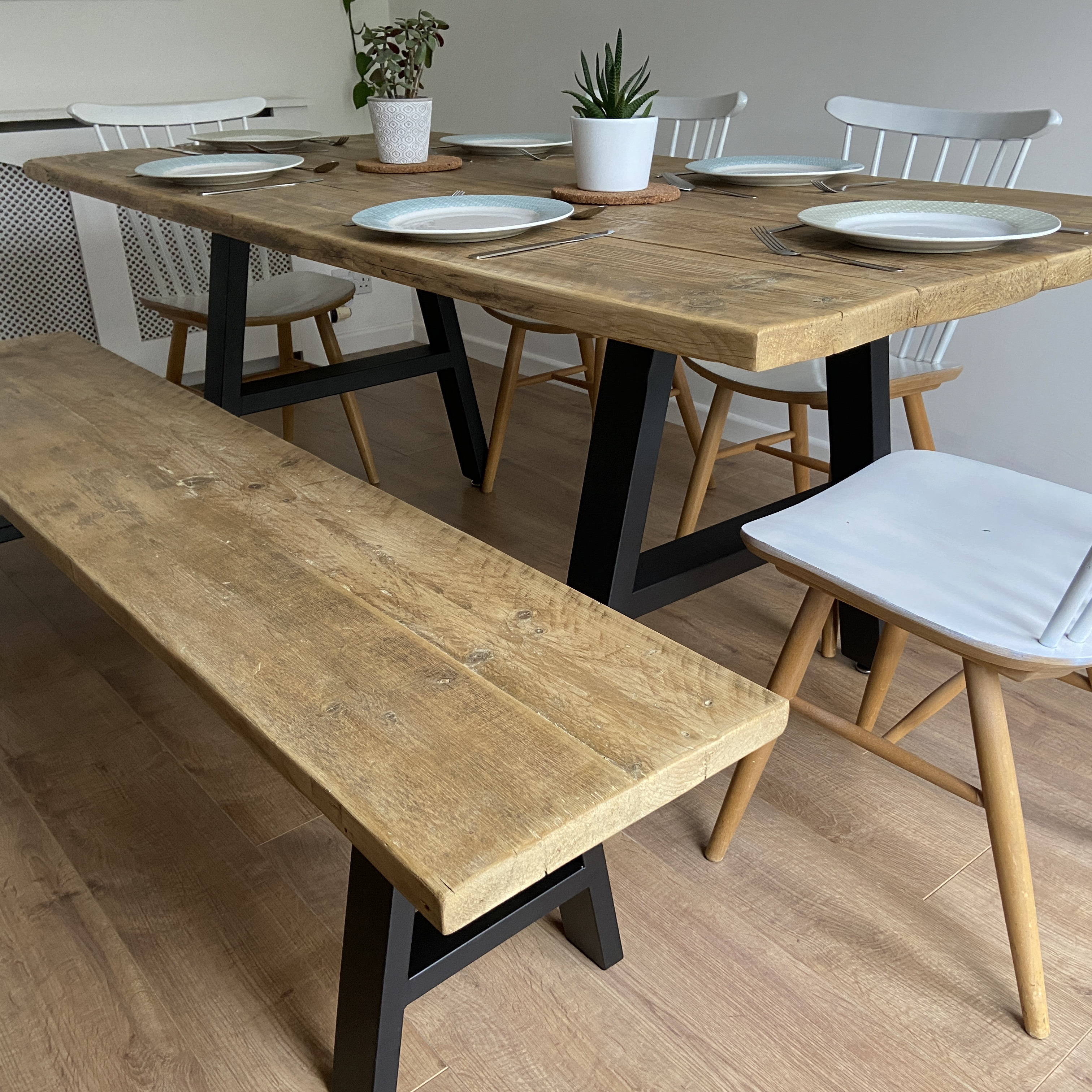 Building A Rustic Industrial Dining Table Wood Create