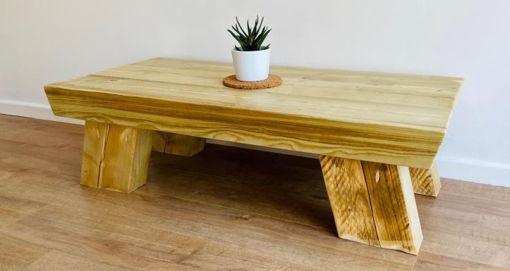 Chunky wood coffee table
