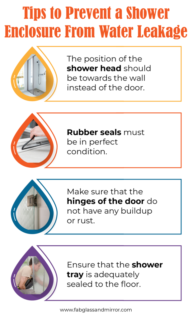 How to repair water leakage problem from glass shower enclosure